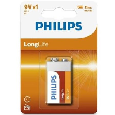 Baterie Philips 9V LongLife